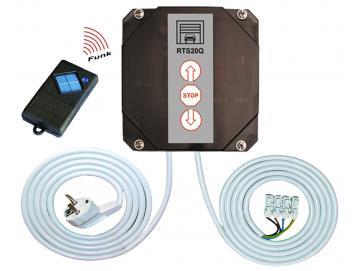WTS - RTS-20Q-SET Rolltorsteuerung , verkabelt, mit eingelerntem Handsender S10-1K868 MHz zur Ansteuerung von 230V AC Rohrantrieben