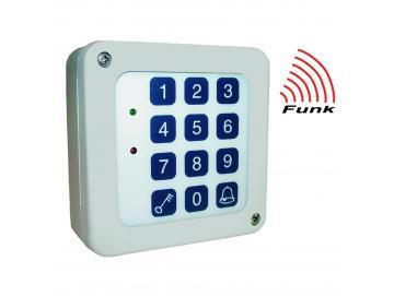 WTS - Funk-Code-Tastatur 3-Kanal: KeeLoq-System (Hopping-Code),Tastaturfeld aus Folie, IP 65 FE 868,30 MHz