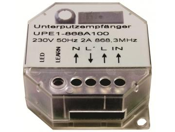 WTS - Mini Funk-Empfänger 1-Kanal Licht : 868,30 MHz., Unterputz, schaltet alle 230V / 50Hz Verbraucher im Haus per Funk